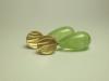 Ohrstecker Prehnit und 750 Gelbgold