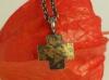 Kreuz Silber mit Feingold