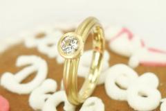 Verlobungsring 750 Gelbgold