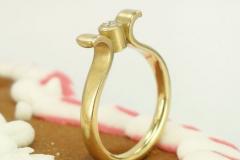 Verlobungsring 750 Gelbgold mit Brillant