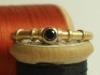 750 Gelbgold und schwarzer Diamant