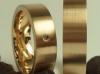 750 Rosegold mit braunem Brillant