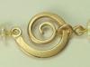 Schneckenschließe aus 333 Rosegold